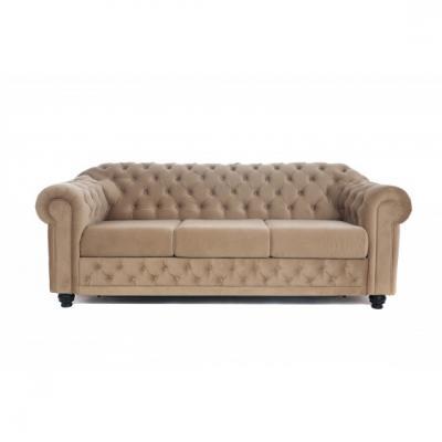 Canapea extensibila Chesterfield Clasic, culoarea Bej