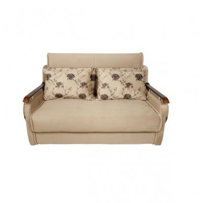 Canapea extensibila 2 locuri, Nora, culoarea Nude cu flori