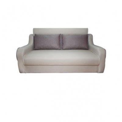 Canapea extensibila 3 locuri, extensie tip pat matrimonial, Havana, culoarea Bej/ Maro