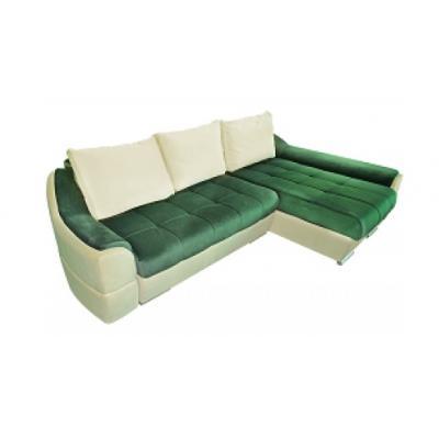 Coltar extensibil NeverFull, culoarea Verde/ Crem