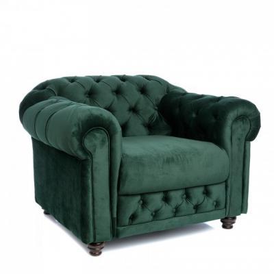 Fotoliu Chesterfield Clasic, culoare Verde