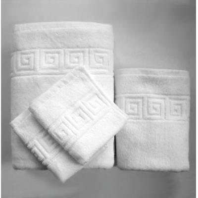 Prosop hotel, alb, model Greek, 100% bumbac, 500gr/ mp, 30x30cm