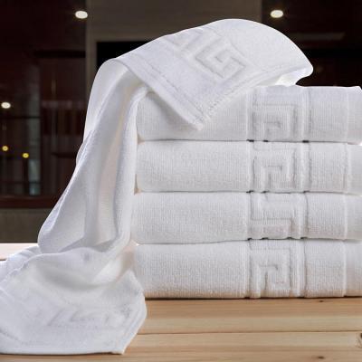 Prosop hotel, alb, model Greek, 100% bumbac, 550gr/ mp, 70x140cm