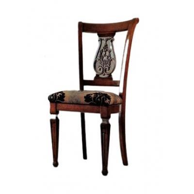 Set de 4 scaune din lemn masiv, Fiore Saber Leg, nuc