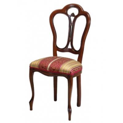 Set de 4 scaune din lemn masiv, Giglio, nuc