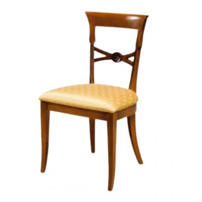 Set de 4 scaune din lemn masiv, Louvre, nuc