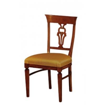 Set de 4 scaune din lemn masiv, Madreperla, nuc