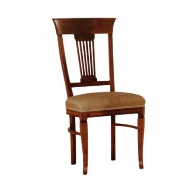 Set de 4 scaune din lemn masiv, Rustica, nuc
