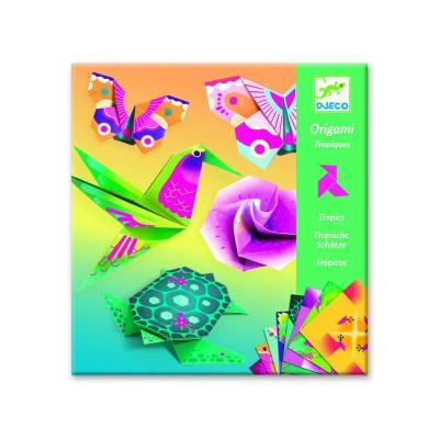 Origami Djeco, animale si flori exotice